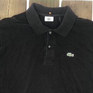 Lacoste Black Short Sleeve Polo Men's size 8 (XXL)